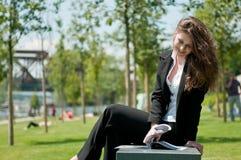 Work break - reading magazine Royalty Free Stock Images