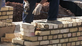 Work bricklayer stock footage