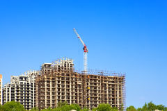 Work on a building area. Industry construction Stock Image