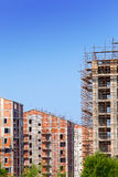 Building site in a clear sunny day Royalty Free Stock Images