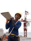 The work builds of Thai man , Royalty Free Stock Image