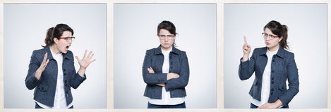 Work can cause bad emotions Royalty Free Stock Photos