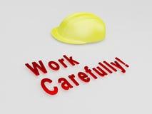 Work Carefully! concept Stock Image
