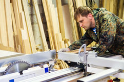 Work in the carpentry workshop Royalty Free Stock Photography