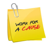 Work for a cause post illustration design Stock Photos
