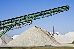 Work in the Cement Factory Royalty Free Stock Images