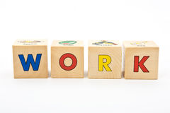 Work childrens blocks Royalty Free Stock Photography