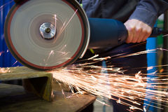 Work circular saw Stock Image