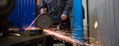 Work circular saw Royalty Free Stock Photos