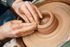 Work with clay. Slavic tradition art Royalty Free Stock Images