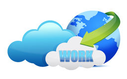 Work cloud computing concept Stock Images