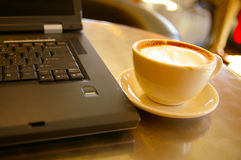 Work and coffee Stock Photography