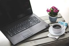 Work with coffee Royalty Free Stock Image
