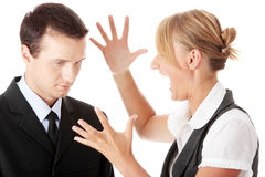 Work Colleagues arguing Stock Photography