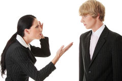 Work Colleagues arguing Stock Photo