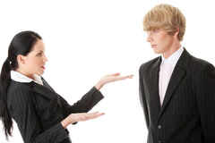 Work Colleagues arguing Royalty Free Stock Photography