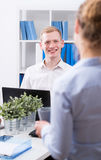 Work colleagues discussion Royalty Free Stock Images