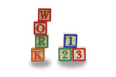 Work competition. Toy using as Concept of work competition Royalty Free Stock Photo