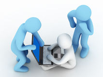 Work for computer Stock Photography
