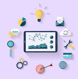 Work concept - business concept - top view Royalty Free Stock Photos
