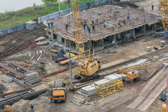 Work on the construction of a house. Royalty Free Stock Photos