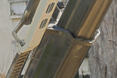 The work of construction machinery. Royalty Free Stock Photo