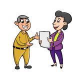Work consultation with businesswoman royalty free stock photo