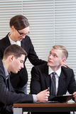 Work in corporation Stock Images