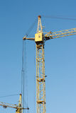 Work crane at a construction site of homes. Royalty Free Stock Photos