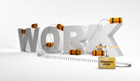 Work, crisis. Absence of work through a crisis Royalty Free Stock Photography