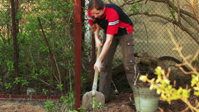 Work at dacha stock footage