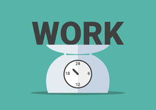 Work on day scales royalty free illustration