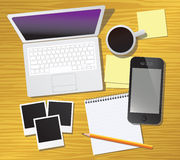 Work desk Stock Photos