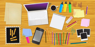 Work desk Royalty Free Stock Photos