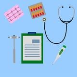 Work desk doctor, physician 2 Stock Photo