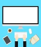 Work desk flat design Stock Photo