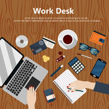 Work desk Royalty Free Stock Images