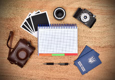 Work desk tourist Royalty Free Stock Image