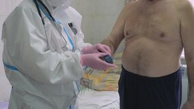 Measurement of the situation, an indicator of the human body`s oxygen saturation.