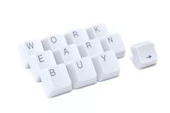 Work, earn, buy Stock Photos