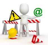 Work in email zone. 3d image isolated on white background Royalty Free Stock Photo