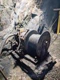 Work equipment, inside the Calamita mine Stock Image