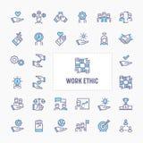 Work Ethic Minimal Icon Set royalty free illustration