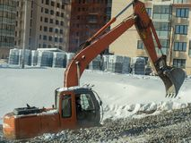 Construction equipment on the construction of a house Royalty Free Stock Image