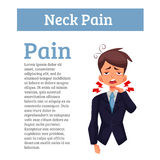 Work experiences pain in the neck Royalty Free Stock Photos