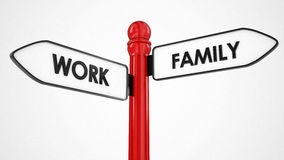 Work and family sign Royalty Free Stock Photos