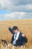 Work in field. In summer day Royalty Free Stock Photos