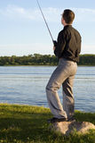 After Work Fishing Royalty Free Stock Photo