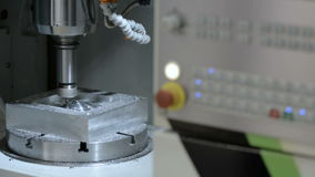 Work five-axis milling machine. stock video