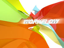 Work Flow Stock Photo